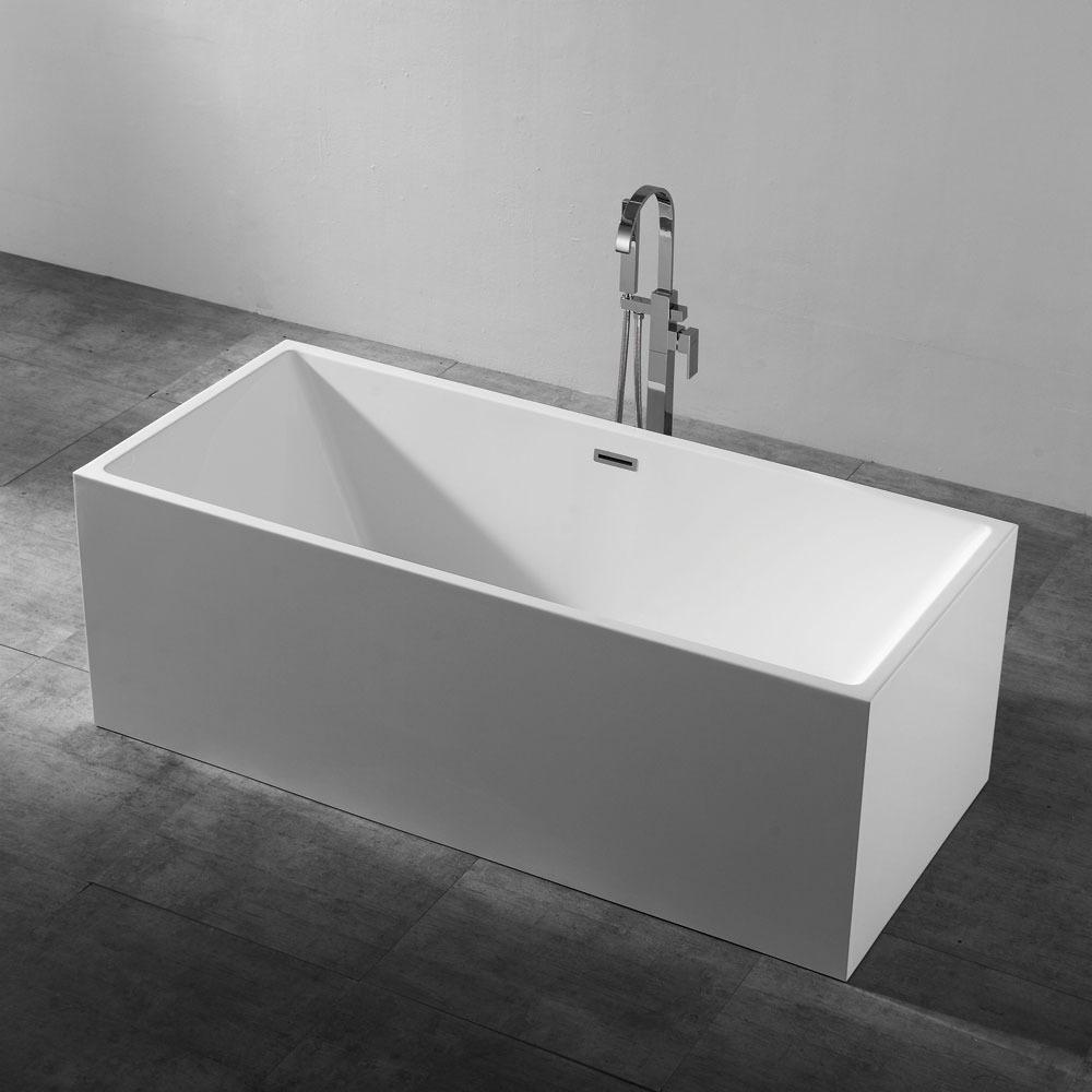 1700 x 800 - Rubine Idro Ultra Slim Bathtub - White | Bathroom Sales ...