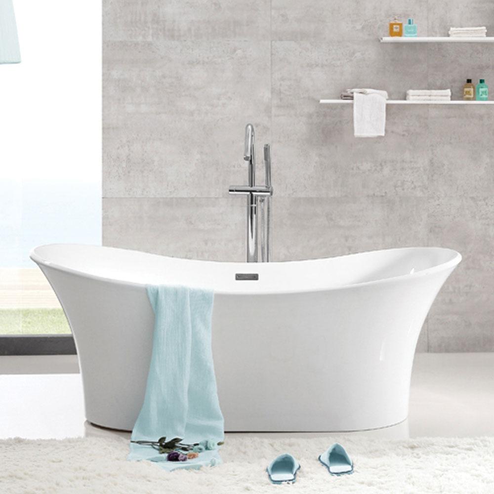 1500 x 750 - Rubine Molveno Acrylic Slim Bathtub - White | Bathroom ...