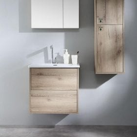 wall hung 600mm Vanity - Canyon Oak