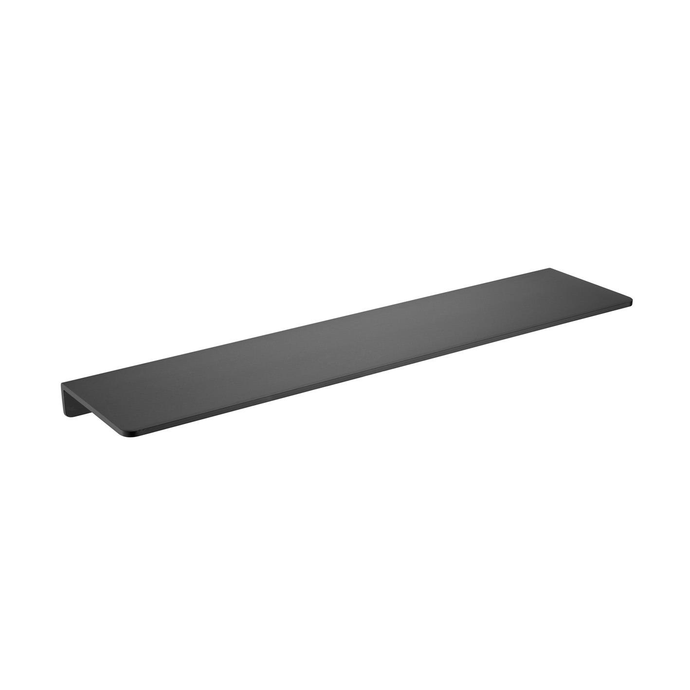 Rubine Flat Bath Shelf - Matt Black | Bathroom Sales Direct